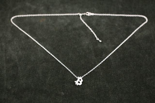 Tiny BTC Necklace/SILVER