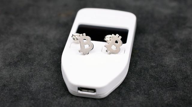 BTC Stud Earrings/SILVER