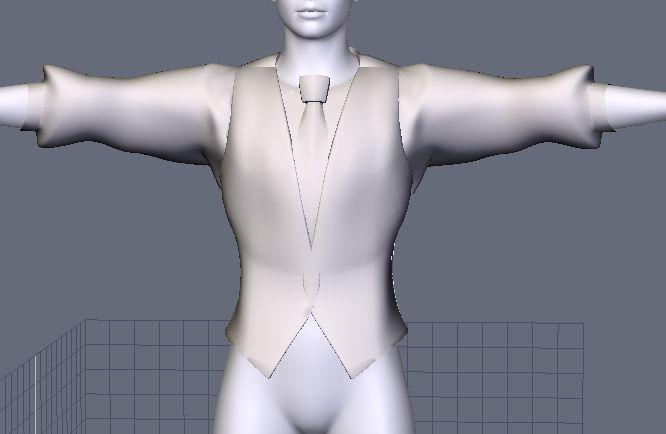 DAZStudio4 Shade 虎徹の服と小物作成 Hexagon メタセコ Metasequoia0223.JPG