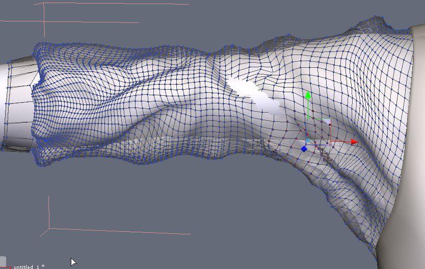 DAZStudio4 Shade 虎徹の服と小物作成 Hexagon メタセコ Metasequoia0233.JPG