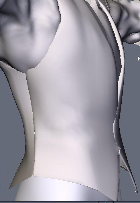 DAZStudio4 Shade 虎徹の服と小物作成 Hexagon メタセコ Metasequoia0239.JPG
