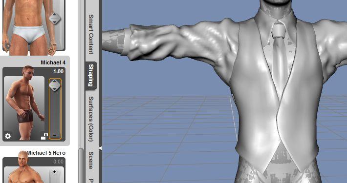 DAZStudio4 Shade 虎徹の服と小物作成 Hexagon メタセコ Metasequoia0270.JPG