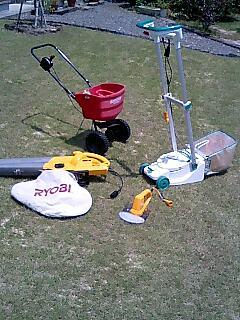 芝のお手入れ道具たち。