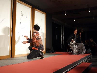 松屋銀座ライブペイント夜1