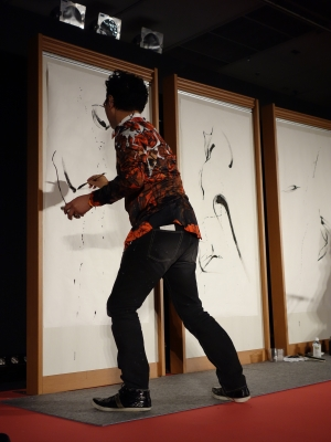 松屋銀座ライブペイント夜2