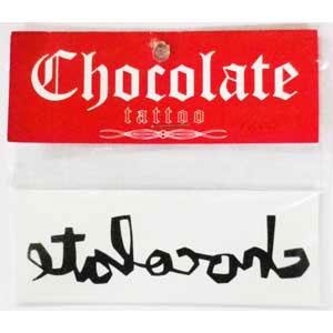 【CHOCOLATE チョコレートステッカー】 tattooステッカー 同柄5枚組 1,200円