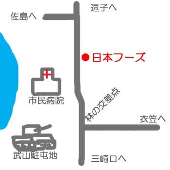 横須賀市民病院付近地図