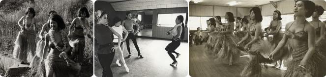 フラダンスの練習風景