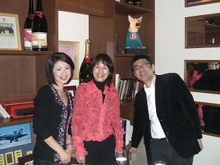 カシータにて井上富紀子さん、越智由美ちゃんと