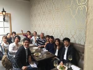 ロンドン食事会 岡崎慎司ご家族と