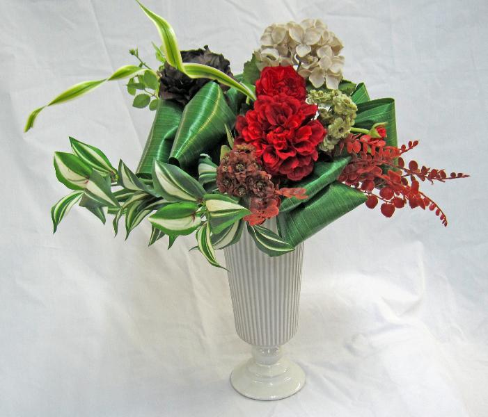 2015 05 09_1119 ゲレいの花器 丸巻リーフリボン 赤.jpg