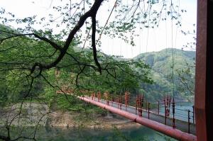 吊り橋の反対側