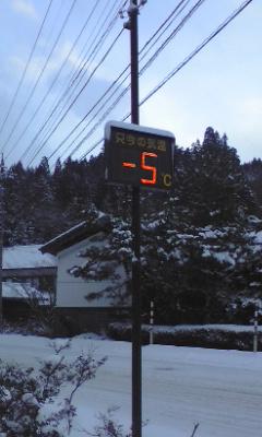 マイナス5℃