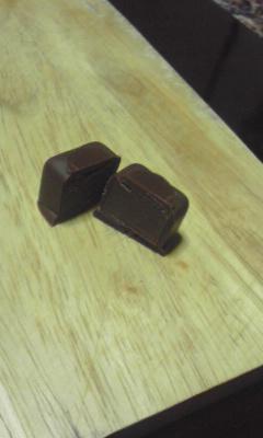 チョコレート半分こ