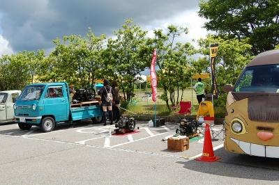 輪島オートモビルミーティング2017石油発動機ミニ運転会