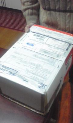 フランスから小包が届いた