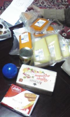 チーズとかお菓子とか