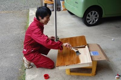 手作り洗面台・塗装