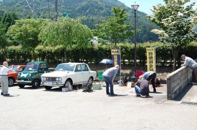道の駅井波クラシックカーミーティング