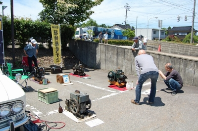 道の駅井波木彫りの里で発動機運転会