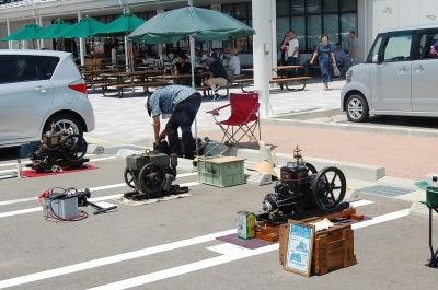 道の駅千里浜で発動機運転会