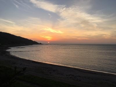 輪島の夕日