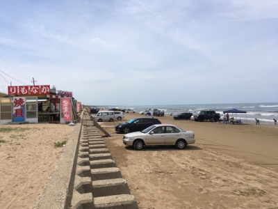 千里浜の浜茶屋