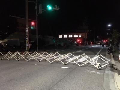 輪島大祭のバリケード