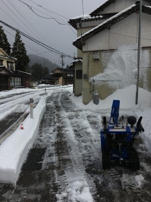 集会所の除雪