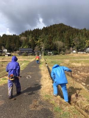 村普請の江掘り