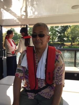 環水公園の船上