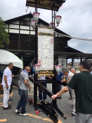 輪島大祭キリコ組立