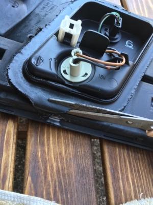 B15サニーのテールランプ掃除