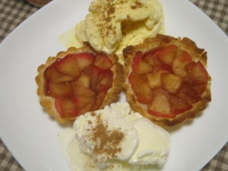 りんごパイとアイスクリーム