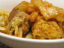 白菜巻きキムチ煮込み
