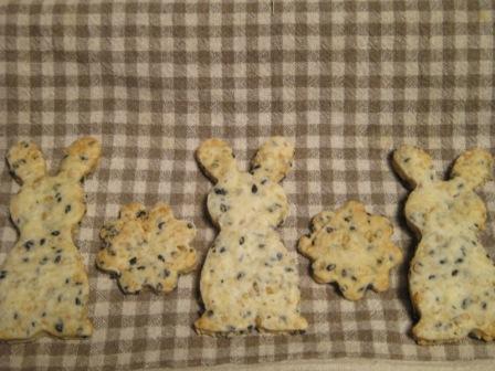 うさごま&花クッキー
