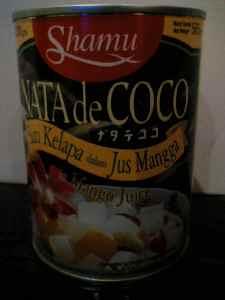 ナタデココ缶詰 マンゴージュース漬け