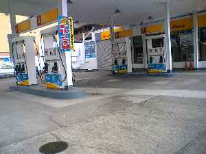 不忍通りガソリンスタンド