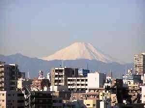 目白台から富士山
