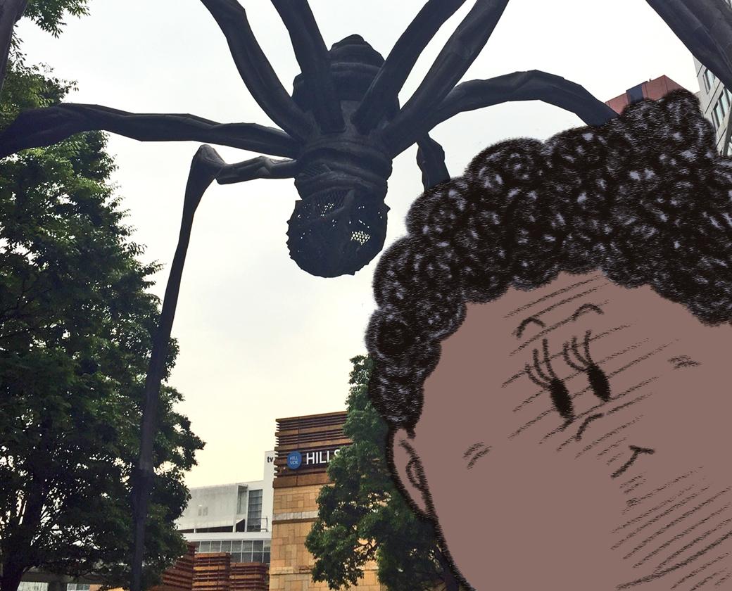 蜘蛛の彫刻ママン