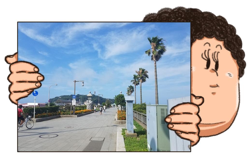 江ノ島へと続く道