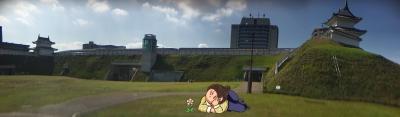 宇都宮城址公園のパノラマ写真