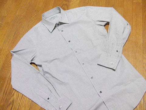 ストレッチスリムフィットチェックシャツ1