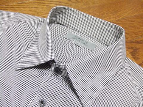 ストレッチスリムフィットチェックシャツ2