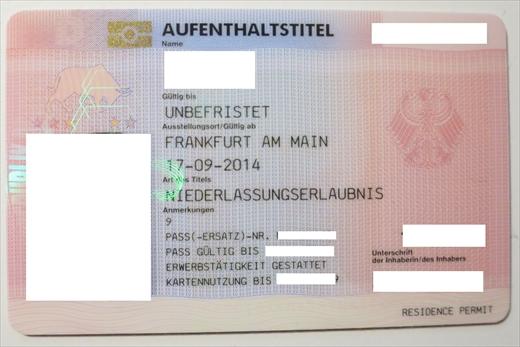 ドイツ 滞在許可