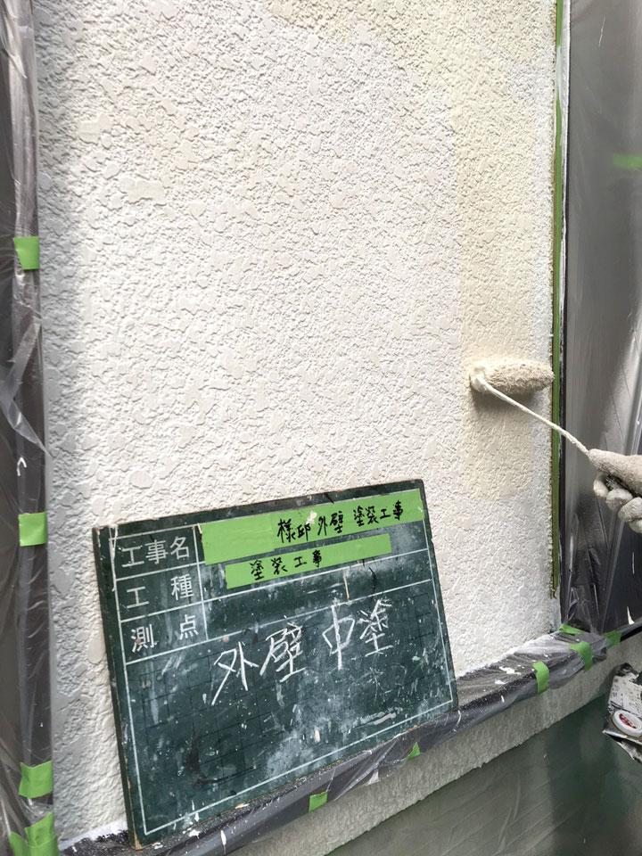 吹田市出口町 T様邸 外壁中塗り 断熱セラミック ガイナ01
