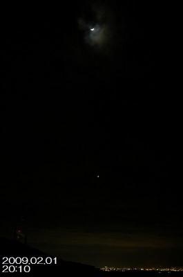 2/1の月と金星