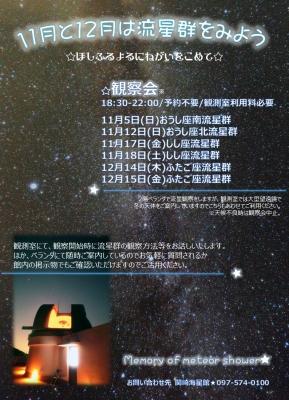 11月12月流星群観察会