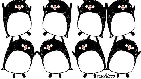 nachicco,Tシャツ,ペンギン,イラスト,365