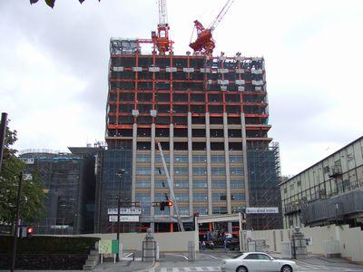栃木県庁舎建設中